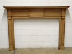 Columbus Architectural Salvage - Salvaged Wood Fireplace Mantel