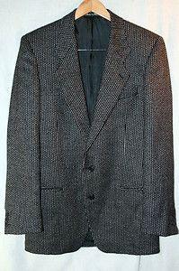 Giorgio Armani Mens Italian Blazer Tagged 48L Conversion 38L Black White | eBay