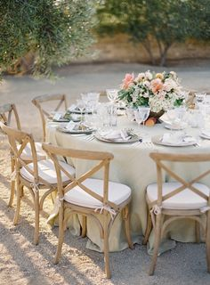 #tablescapes  Photography: Jose Villa Photography - josevillaphoto.com  Read More: http://www.stylemepretty.com/2014/03/12/al-fresco-wedding-in-santa-ynez/