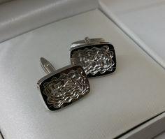 Vintage Manschettenknöpfe - Manschettenknöpfe Silber 835 antik Herren MS128…