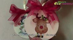 como hacer adornos navideños con cd para el arbol de navidad manualidades tutorial DIY - YouTube