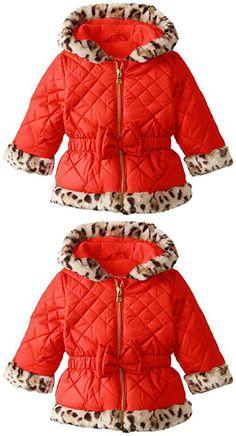 Dom&lyn Baby Girls Double-breasted Woolen Bowknot Coat Jacket ...