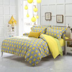 Cute Yellow Pear Fruit Bedding Set Kids Duvet Cover Bed Set Single Double Queen Size Bed Sheets Bedlinen Bedclothes Full Size Bedding Sets On Sale King Duvet Covers Sale From Hybeddings, $46.73| Dhgate.Com