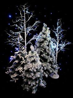 Snowy Tree - Small - Type 2 | Winter Wonderland Theme Party | Winter Wonderland Theme | Event Prop Hire
