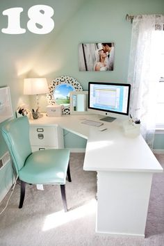 Pinterest Home Desks An L Shape Desk Like This One From Simplykellyblog Can Be
