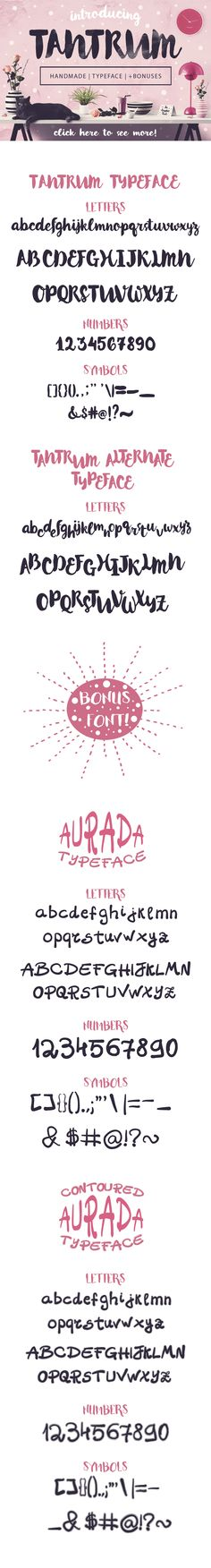 Tantrum Typeface + Bonus Artsy Kit! by Jas Graphic Tools on Creative Market
