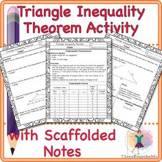 99 Triangles Ideas Scaffolded Notes Classwork Law Of Sines