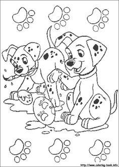 101 dalmatians coloring picture