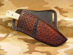 S9 B1 Cutty Sark Custom Leather Cross Draw Sheath Knife not Included
