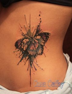 Butterfly watercolor tattoo | Tumblr