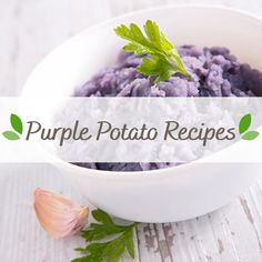 Purple Potato Recipes, Purple Potatoes, Serving Bowls, Tableware, Dinnerware, Dishes, Bowls