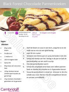 Black Forest Chocolade Pannenkoeken - Cambridge Weight Plan Ranst - Schoonheidsinstituut Salutem Ranst