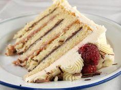 Raspberry and Chocolate Ganache Cake with White Chocolate Buttercream | Tasty Kitchen: A Happy Recipe Community!