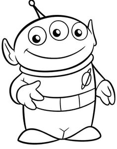 Alien Toy Story Coloring Pages Toy Story Coloring Pages, Cartoon Coloring Pages, Disney Coloring Pages, Christmas Coloring Pages, Coloring Pages For Kids, Coloring Books, Coloring Sheets, Toy Story Theme, Toy Story Birthday