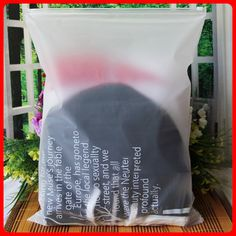 50pcs/lot 35cm*45cm*200micron PE Printed Clothes Plastic Packaging Self Adhesive Bags
