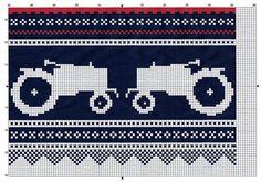 DIY knit pattern a la Moods of Norway meets Marius Knitting Charts, Knitting Stitches, Embroidery Stitches, Knitting Patterns, Crochet Patterns, Cross Stitch Tree, Cross Stitch Baby, Cross Stitch Patterns, Crochet Chart