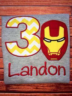 Iron Man Birthday Shirt / Super hero