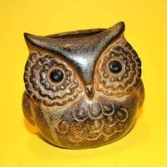 Owl Pottery Vase by ggmossgirl, via Flickr