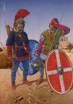 Lanciarii (javelin-armed infantrymen) of Legio II Parthica, mid-III c. AD.
