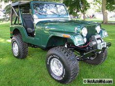 1980 CJ5 green restored with lift