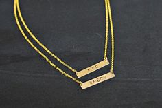 Make Your Own Handstamped Necklace abeautifulmess.com