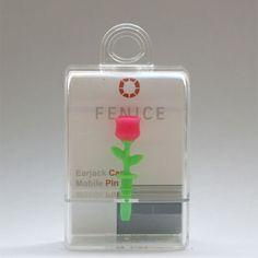 http://www.cell-wear.com/ear-jack-caps.html  #earjackcaps #fenice #design #cellphone #accessories #pink #rose