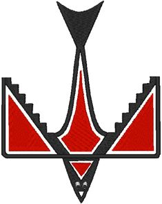 Machine Embroidery Design: Native American Totem Red-winged Blackbird