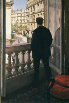 """Gustave Caillebotte """"The Man at the Window"""" 1876 - Currently my favorite artist. Love his work  (Impressionism)"""