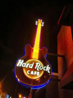 The Hard Rock Cafe in Memphis is in the heart of the action on Beale Street. Photo by Lee Bennett, via Flickr.