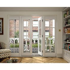 Wickes Coniston Georgian Bar Softwood French Doors 6ft With 2 Side Lites 300mm