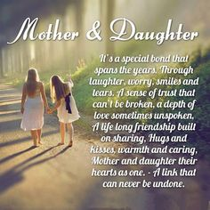 Mother & Daughter Picture quotes