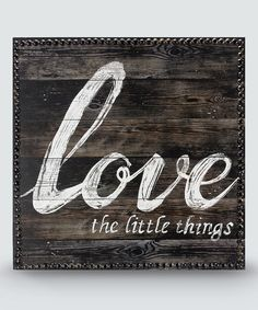 This 'Love' Wood Wall Sign by Young's is perfect! Would be perfect with newborn pictures next to it #zulilyfinds