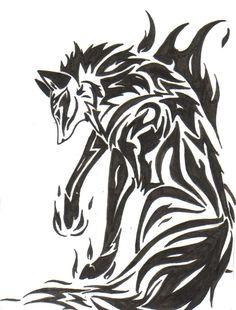 Tribal Fox Tattoo | Fire Fox Tribal Tattoo by Zaiynin on deviantART