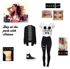 """""""Day at the park with Ariana"""" by harrystyles01 ❤ liked on Polyvore featuring Witchery and Converse"""