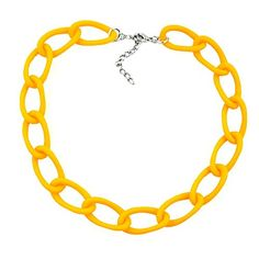 The anchor chain is a timeless necklace made from bright yellow anchor chain elements. The jewellery piece looks great to any fashion style and could soon be. Panzer, Chain, Aluminium, Jewelry, Products, Fashion, Jewelry Shop, Silver Jewellery, Bangles