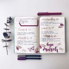 "1,872 Likes, 19 Comments - Bullet Journal & Studygram (@mylittlejournalblog) on Instagram: ""Buenos días de lunes! Semana planificada y al lío! """