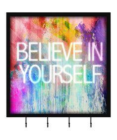 Loving this 'Believe in Yourself' Four-Hook Keepsake Box on #zulily! #zulilyfinds