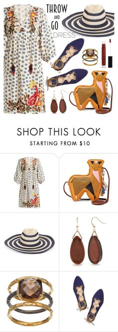 """""""Easy Outfitting: Throw-and-Go Dresses"""" by the-geek-goddess ❤ liked on Polyvore featuring Velvet by Graham & Spencer, FOSSIL, Filù Hats, Kim Rogers, Olive & Ivy, Tory Burch and Anastasia Beverly Hills"""