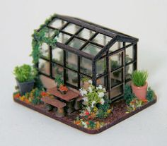 Castle Hill - Miniatures: A 144 scale greenhouse