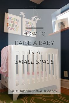 Our favorite tips and tricks from living in a tiny apartment with a baby and two great danes. Her bedroom didn't even have room for a door but we made it work! Click through to read about more small space living tips, how we saved money on setting up our nursery, and other parenting hacks.