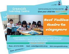 Greenish Learning Center offers high quality English Tuition and Math Tuition Center in Singapore. The Learning lab is the best tuition centers Singapore.
