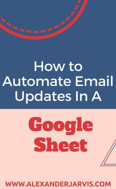 How to automate email updates by sending email from a Google Sheet with a step by step explanation of the code  A lot of people use Google Sheets to collaborate on a wide number of topics. Many use it to manage their KPIs. Do you know what no one knows how to do that would be really cool if it was possible?  Sending an email update directly from Sheets! Read more at WWW.ALEXANDERJARVIS.COM #googlesheets #emailmarketing #startup #howto Do You Know What, Email Marketing, Read More, Script, Scale, Coding, Number, Google, Weighing Scale