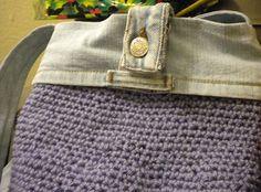 Denim & Crochet bag... #diy #denim #crafts #handmade #sewing