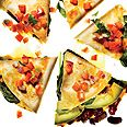 Vegetable Quesadillas with Fresh Salsa Recipe at Epicurious.com