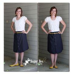 Men's Shirt to Skirt - Refashion - Sugar Bee Crafts