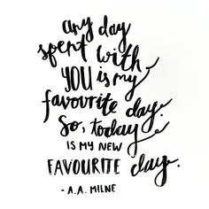 A.A. Milne #handlettering #quote