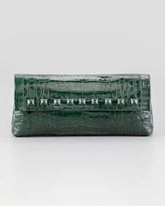 Studded Crocodile Clutch Bag by Nancy Gonzalez at Bergdorf Goodman.