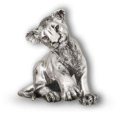 Silver Lion Cub Sitting