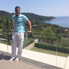 Our CEO Christian Jagodzinski takes a break between visiting villa properties to enjoy the stunning view of L'Escalet before he returns to #Miami. #Summer #SaintTropez