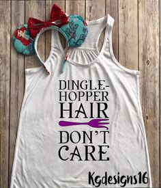 Dingle Hopper Hair-Ariel Under The Sea-Glitter Ariel Tank Top-Vacation Shirt-Flowy Tank Top-Loose Fit by KGDESIGNS16 on Etsy